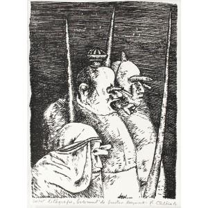 """Ştefan Câlţia - Cei trei vestitori (din ciclul """"Golemul"""" după Gustav Meyrink)"""