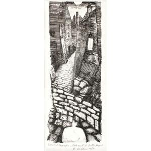 """Ştefan Câlţia - Oraşul (din ciclul """"Golemul"""" după Gustav Meyrink)"""