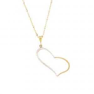 Lanț cu pandantiv-inimă din aur