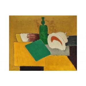 Ion Pacea - Still Life with Shell and Green Bottle (Natură Statică cu Scoică și Sticlă Verde)