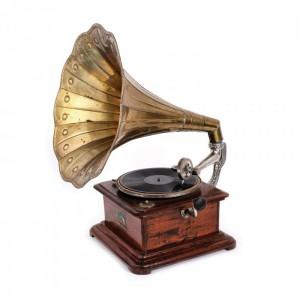 Gramofon din lemn de paltin, cca. 1900-1910