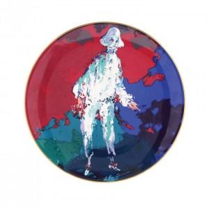 """Farfurie din porțelan Royal Doulton, """"Pierrot"""" după o pictură de LeRoy Neiman"""