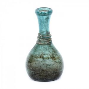 Vas cu decor aplicat, din sticlă colorată, Iran, sec XII-XIII, piesă de colecție