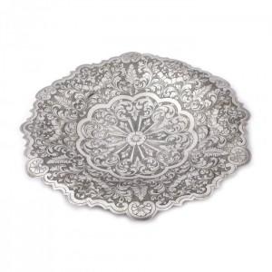 Platou din argint, gravat cu elemente floral-vegetale [Sec. XX]