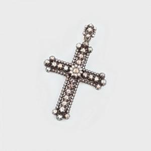 Cruce-pandantiv din argint și aur, pavată cu diamante, cca. 1920, a aparținut mitropolitului Nicolae Colan