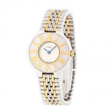 Ceas Must de Cartier 21, de mână, de damă din aur și oțel