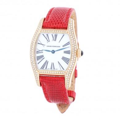 Ceas Girard Perregaux Richeville, de mână, de damă, din aur, ornat cu diamante, în cutie originală