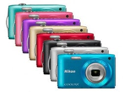 The Nikon S3300 colour range