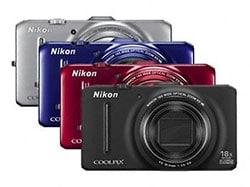 The Nikon Coolpix S9300 colour range