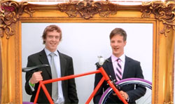 Ben and Jezz with one of their Mango Bikes