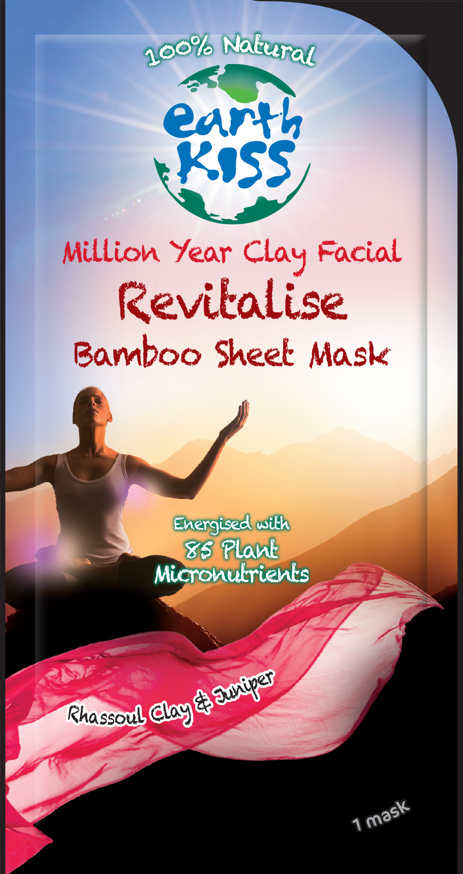 Million Year Clay Facial Revitalise Bamboo Sheet Mask