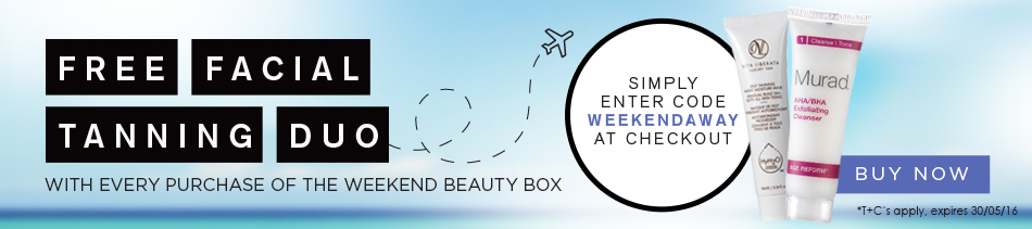 Weekend Away Beauty Box GWP Carousel Banner