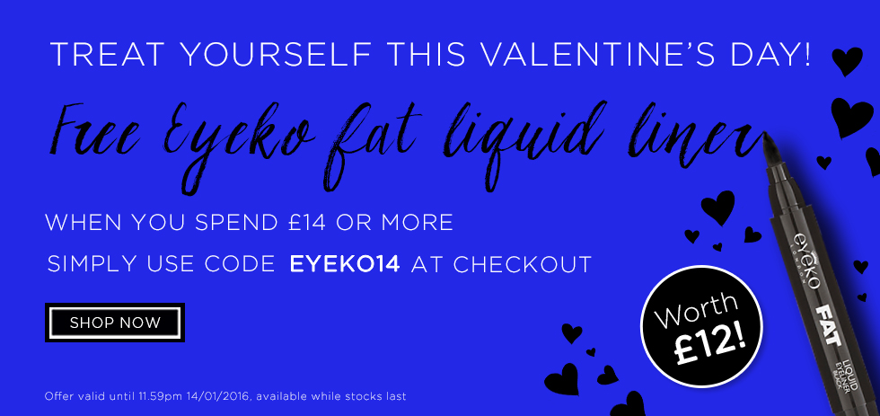 Free Eyeko Eyeliner when you spend £14 or more!