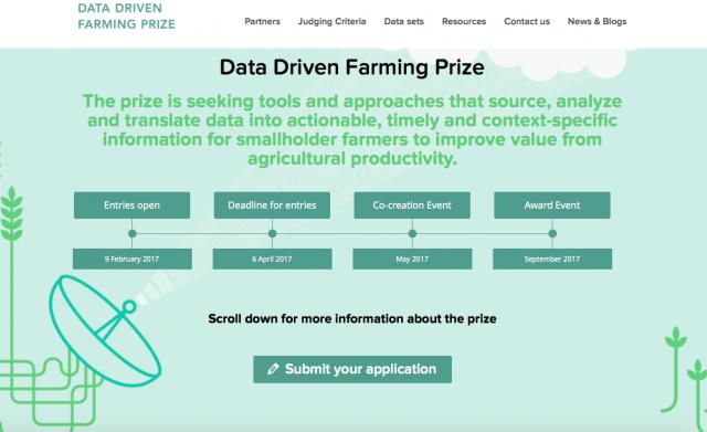 Data Driven Farming Prize Website Screenshot