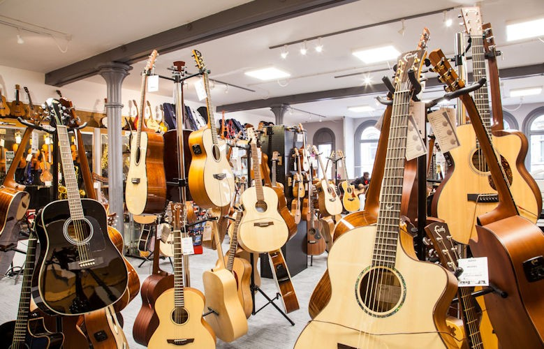 Guitars at all prices from £90 to £5,000