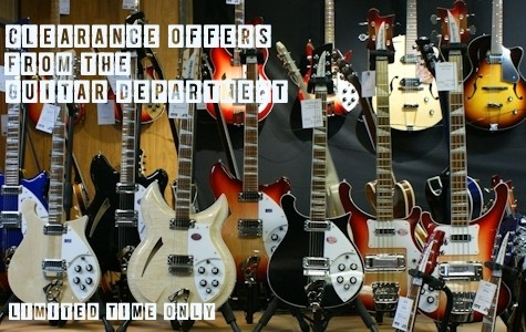 Clearance Offers from the Guitar Department