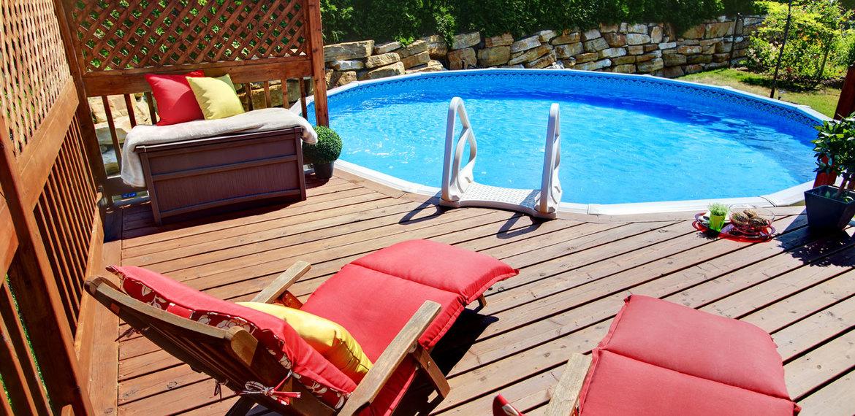 Habillage piscine tubulaire beautiful piscine with - Habillage piscine tubulaire ...