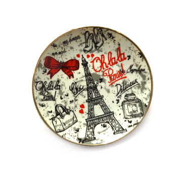 Assiette moy Ref.60OHLALAwhite