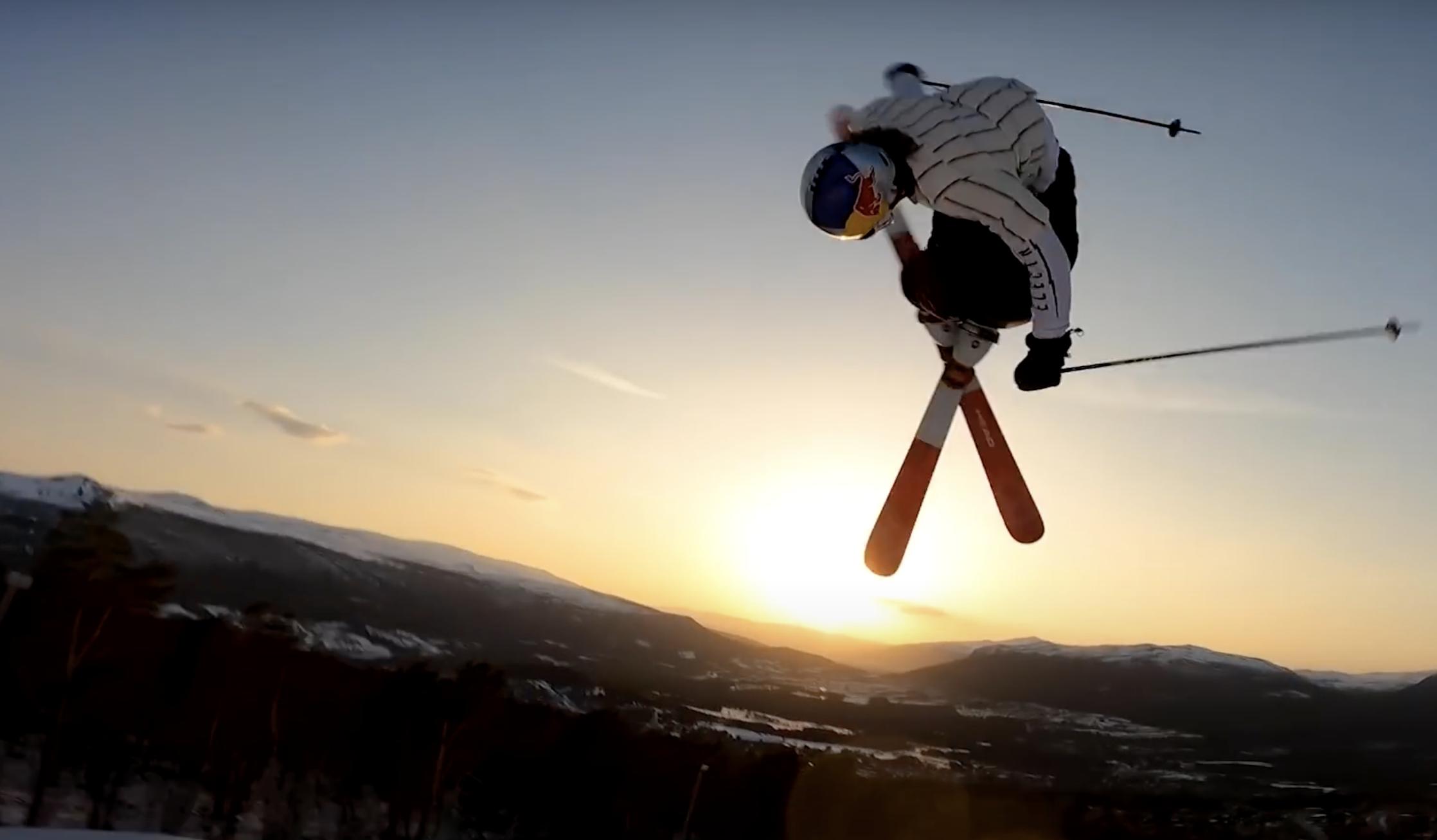 Profi-Snowboarder auf zwei Brettern