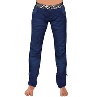Womenpant samourai print denim blue