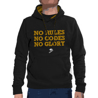 Menhoodie no rules black curry