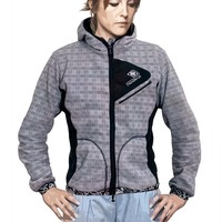 Womenjacket dissident scottich grey black