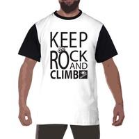 Ments keep rock black white