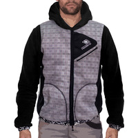Menjacket dissident scottich grey black