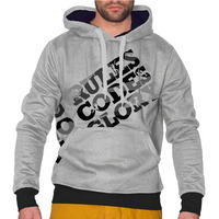 Menhoodie mrno grey black