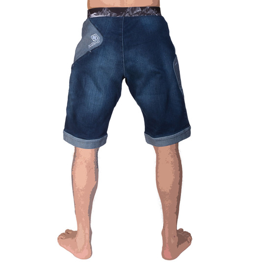 Menshort sahel denim blue dos