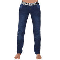 Womenpant samourai denim blue lace up