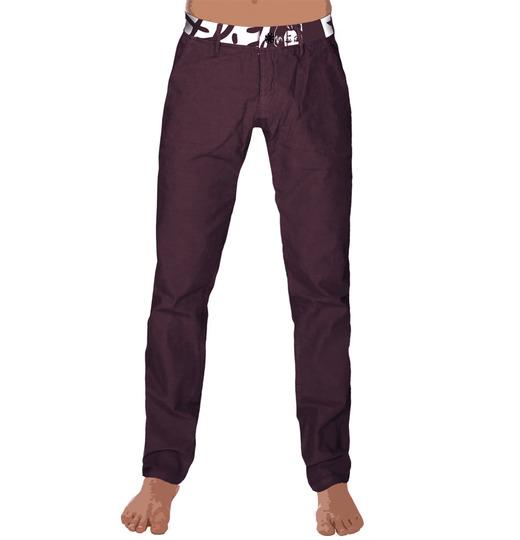 Womenpant fonzi velvet purple