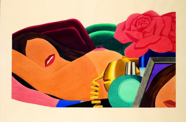Tom WESSELMANN  - « BIG STUDY FOR NUDE », 1976  - Graphite et liquitex sur papier [...]