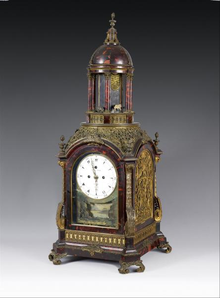 George Prior (1735-1814) - Londres  - Pendule-automate anglaise en placage[...]