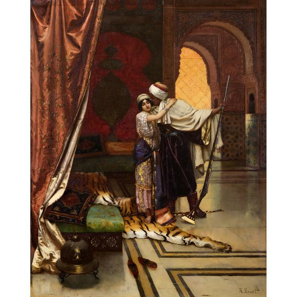 RUDOLF ERNST (1854-1932)  - LE DÉPART POUR LA GUERRE SAINTE  - LEAVING FOR THE HOLY [...]