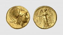 MACEDON, GOLD DISTATER OF ALEXANDER III THE GREAT, Amphipolis, ca...