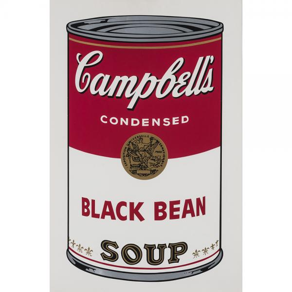 Andy Warhol (1928-1987), Black Bean, from Campbell's soup I - 1968, Sérigraphie en [...]