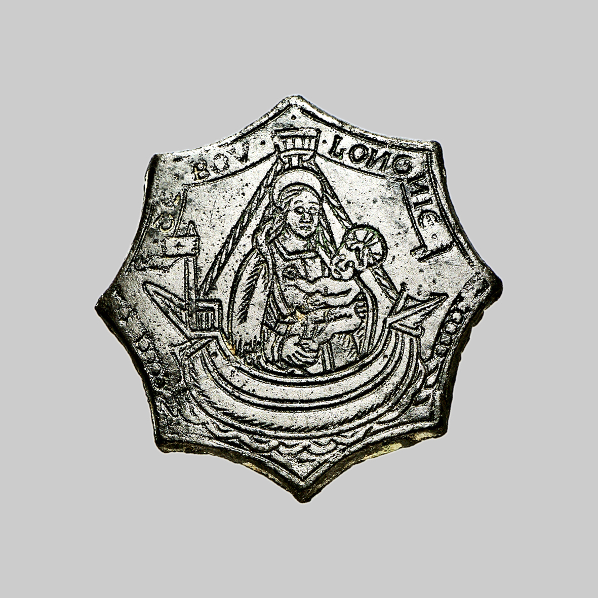 Virgen a identificar / Crucifixión  (R.M. SXVII-O428) 1415872880431384