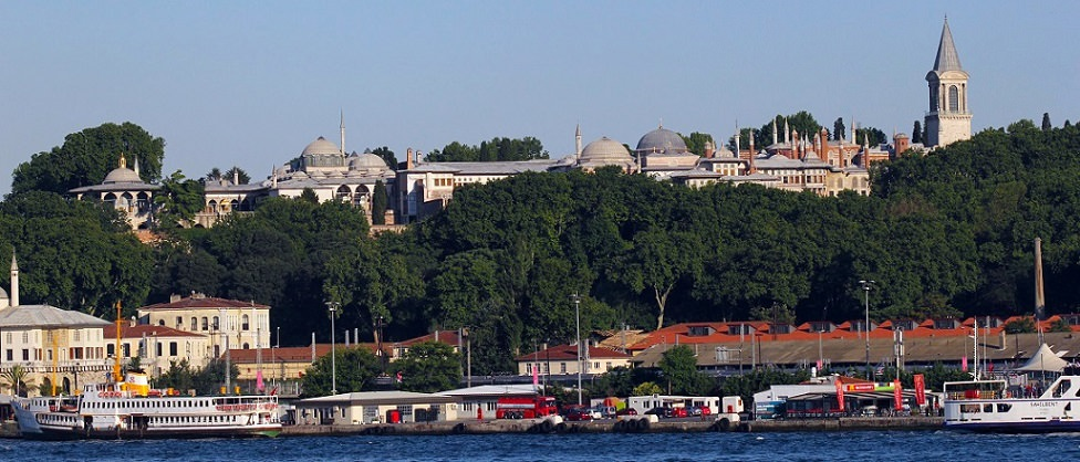 Topkapi Palace from sea