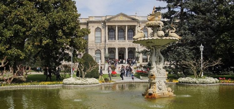 Dolmabahce Palace fountain