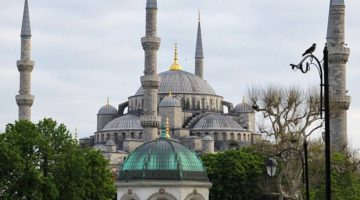 blue mosque and german fountain