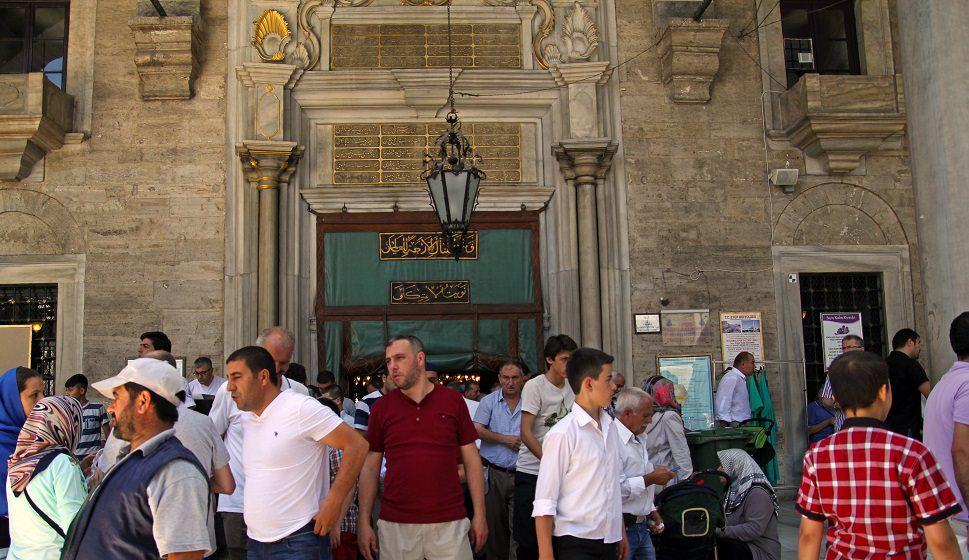 Eyup Sultan mosque entrance