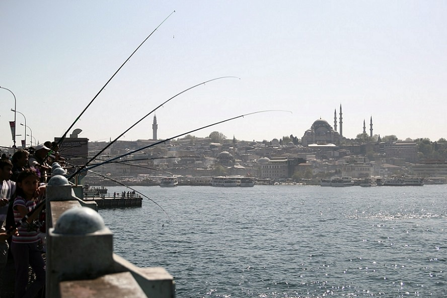 Fishing, Galata Bridge