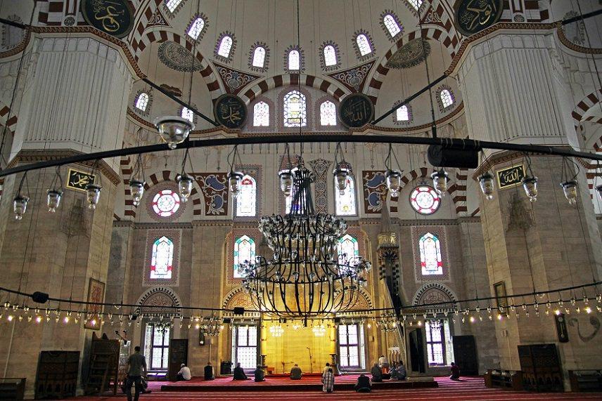 inside Sehzade Mosque