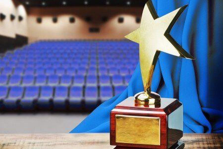 21764250 - star award for service to the background of the auditorium