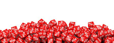 46183663 - red discount cubes. 3d illustration.