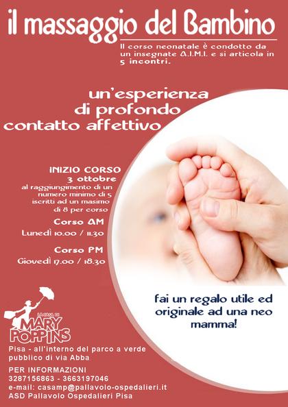 Corso massaggio neonatale