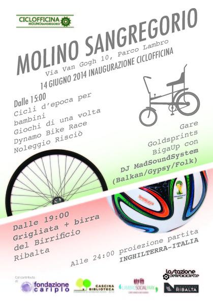 Festa di Inaugurazione Ciclofficina Molino San Gregorio