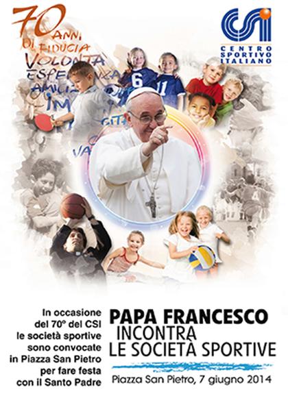 Papa Francesco incontra le società sportive