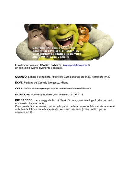 Corriamo con Shrek